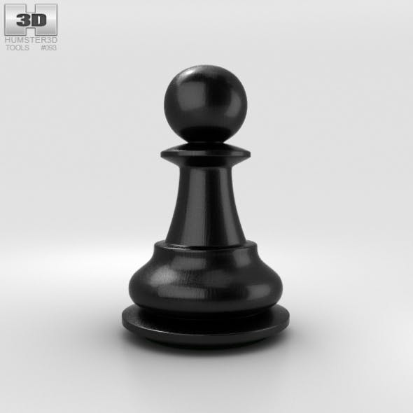 Classic Chess Pawn Black - 3DOcean Item for Sale