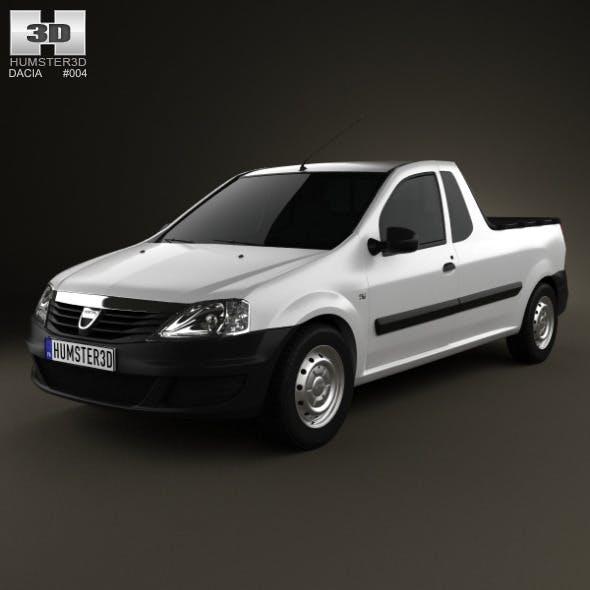Dacia Logan Pickup 2011 - 3DOcean Item for Sale