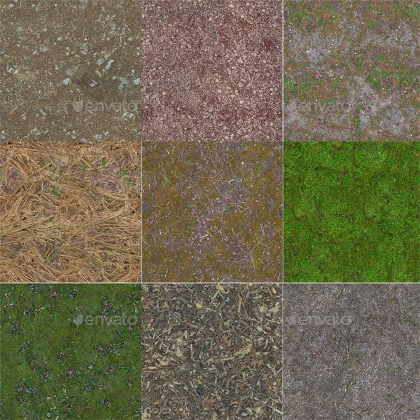 28 Forest Texture Pack - 3DOcean Item for Sale