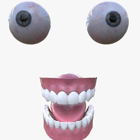 Eyes and teeth - 3DOcean Item for Sale