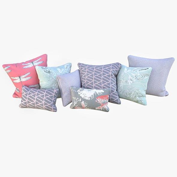 Pastel pillows - 3DOcean Item for Sale