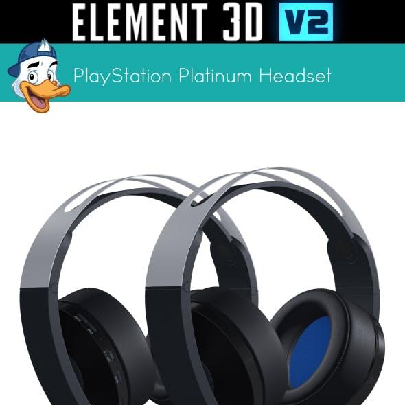 PlayStation Platinum Headset for Element 3D