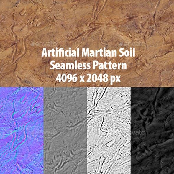 Martian Terrain Seamless Background