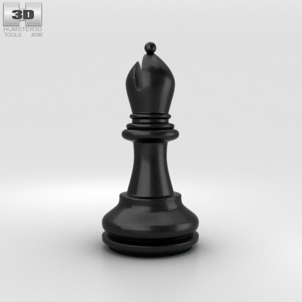Classic Chess Bishop Black - 3DOcean Item for Sale