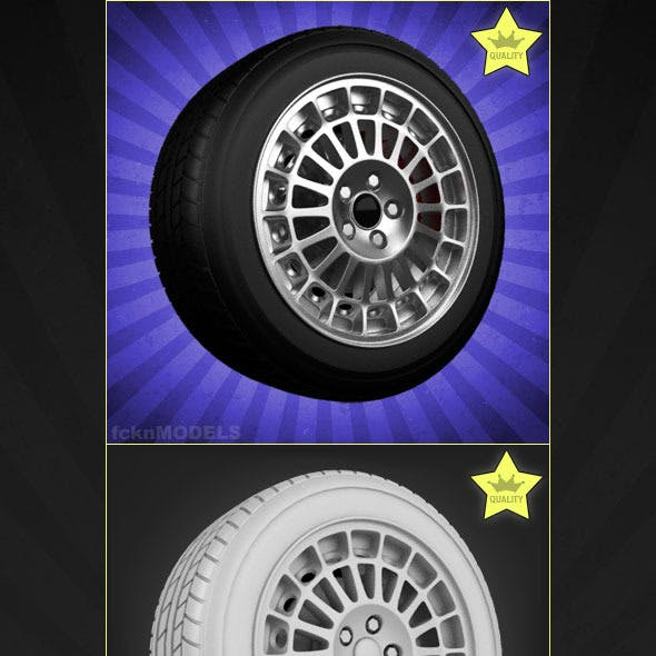 High detailed 3D model of car wheel 07