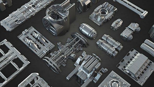 Tech Heavy Kit Bash 200+ Elements - 3DOcean Item for Sale