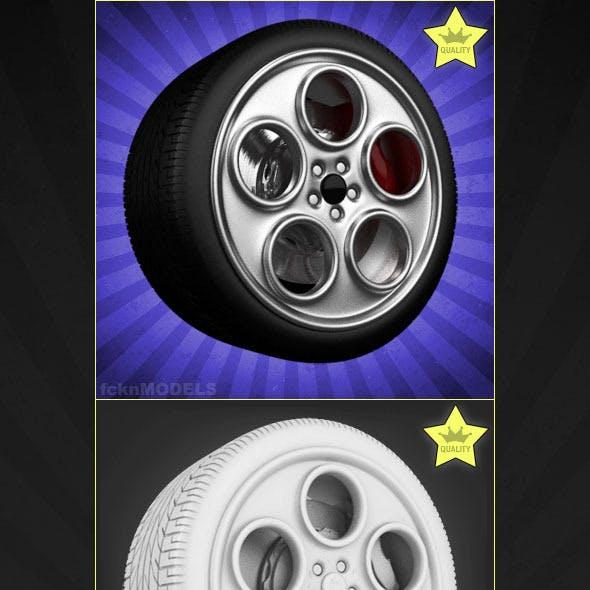 High detailed 3D model of car wheel 77