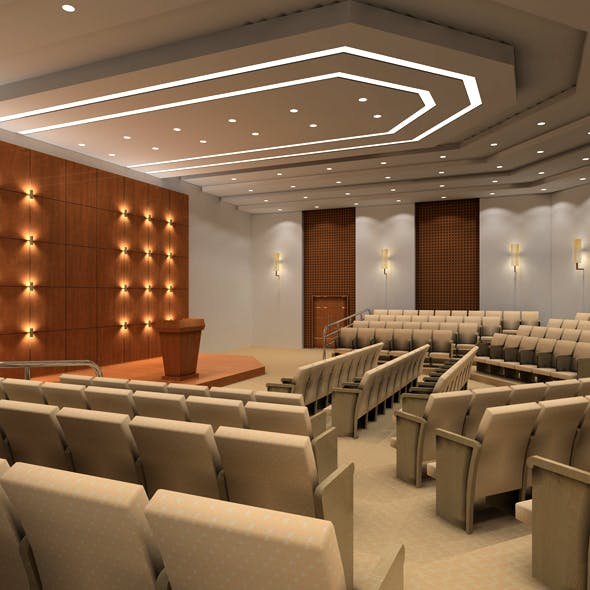Academic lecture hall, conference hall, reception hall
