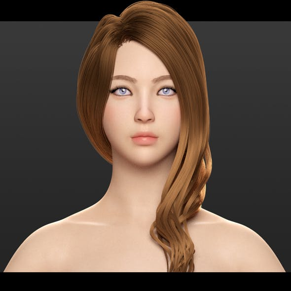 AVA - Beautiful Female Character - 3DOcean Item for Sale