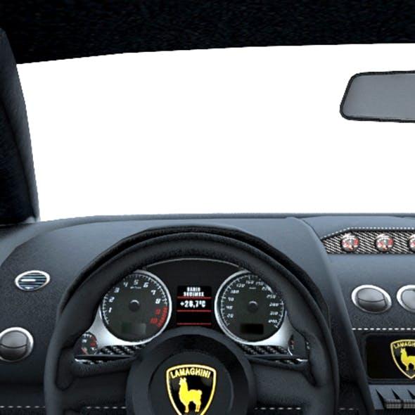 Low poly car interior 02