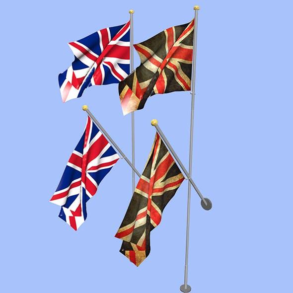 United Kingdom Uk Flag - 3DOcean Item for Sale