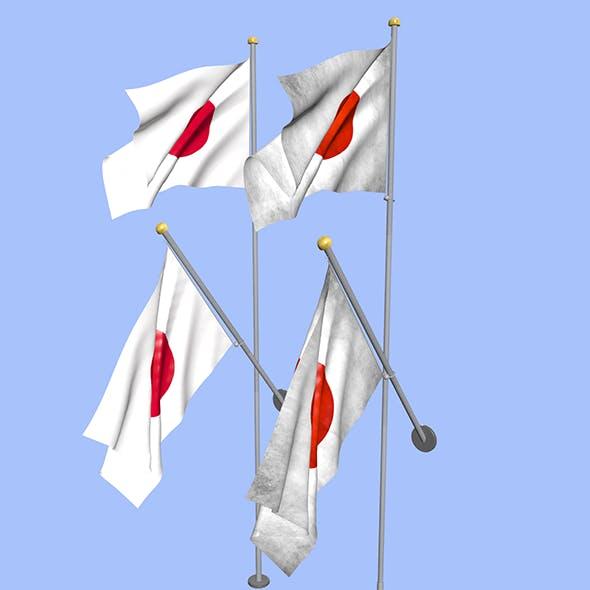 Japan Flag - 3DOcean Item for Sale