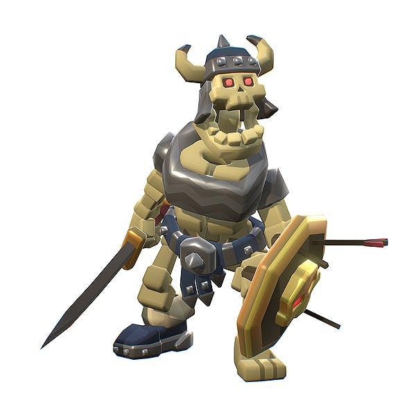 Skeleton Swordsman - Smashy Craft Series