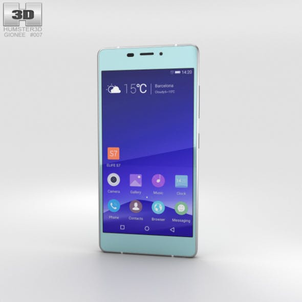 Gionee Elife S7 Maldives Blue - 3DOcean Item for Sale