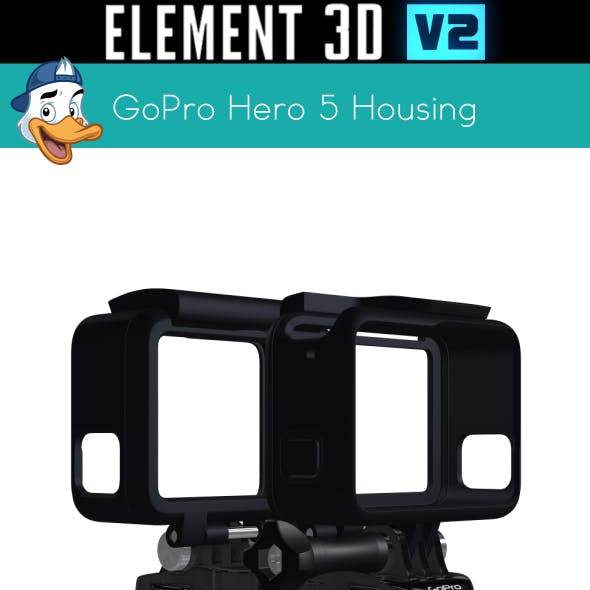 GoPro Hero 5 Housing for Element 3D