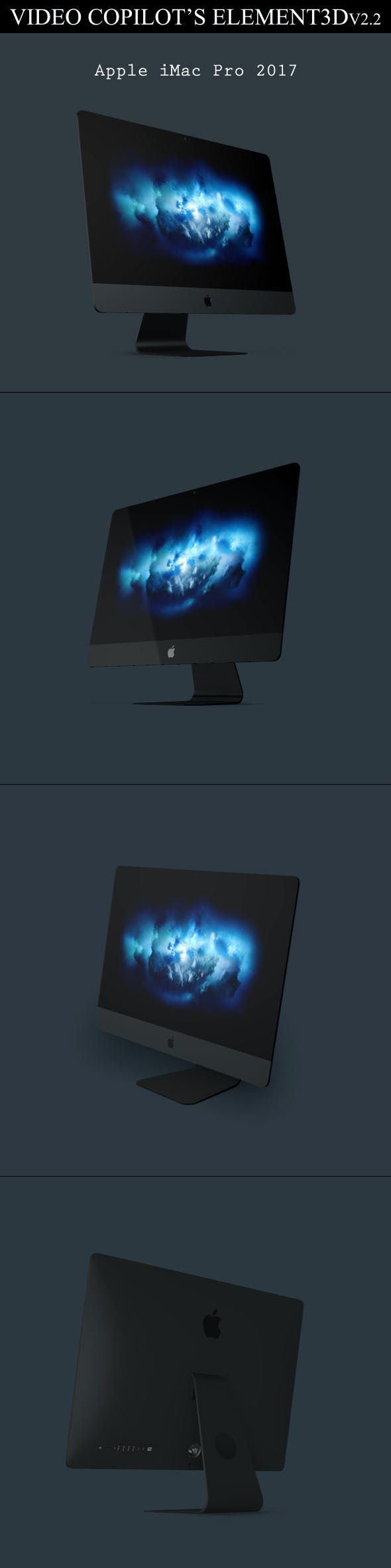 Element3D - iMac Pro 2017 - 3DOcean Item for Sale