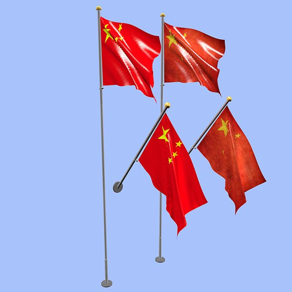 China Flag - 3DOcean Item for Sale