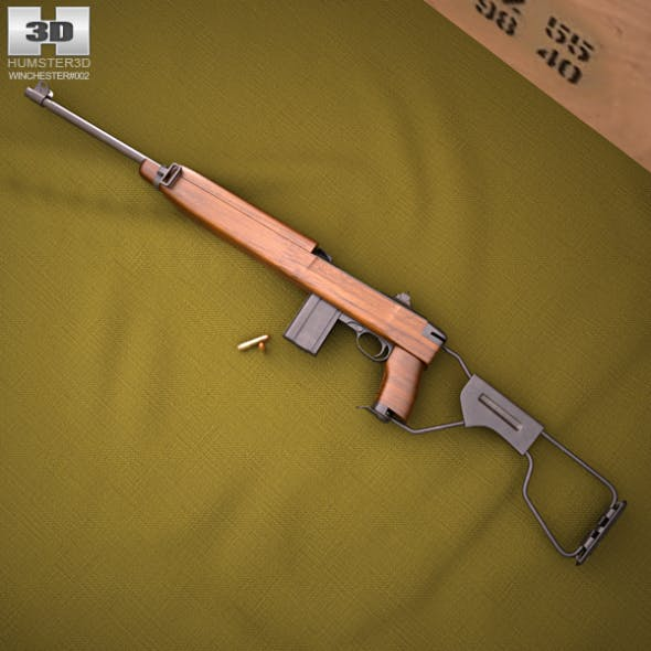 Inland M1A1 Carbine - 3DOcean Item for Sale