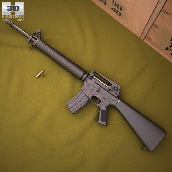 Colt M16A4 - 3DOcean Item for Sale