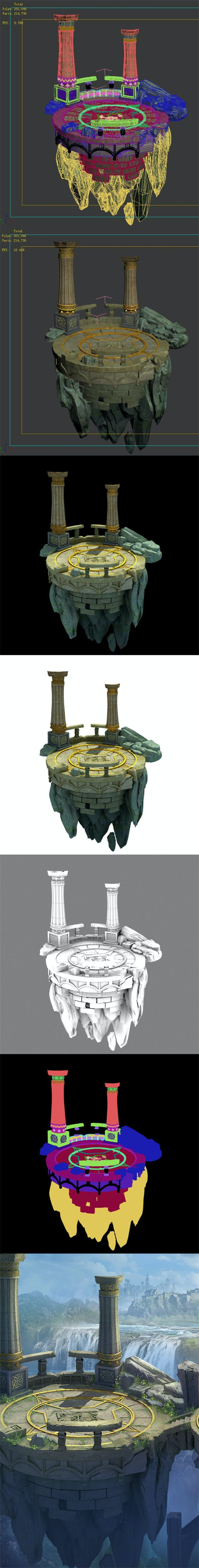 The moon Mountain peaks - Clan answer Shitai - 3DOcean Item for Sale
