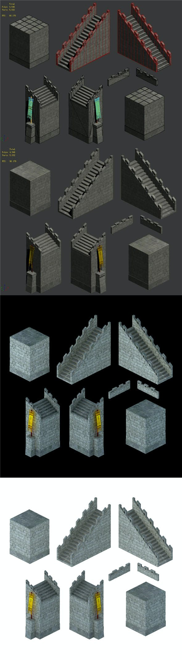 City Gate - Wall - Accessories - 3DOcean Item for Sale