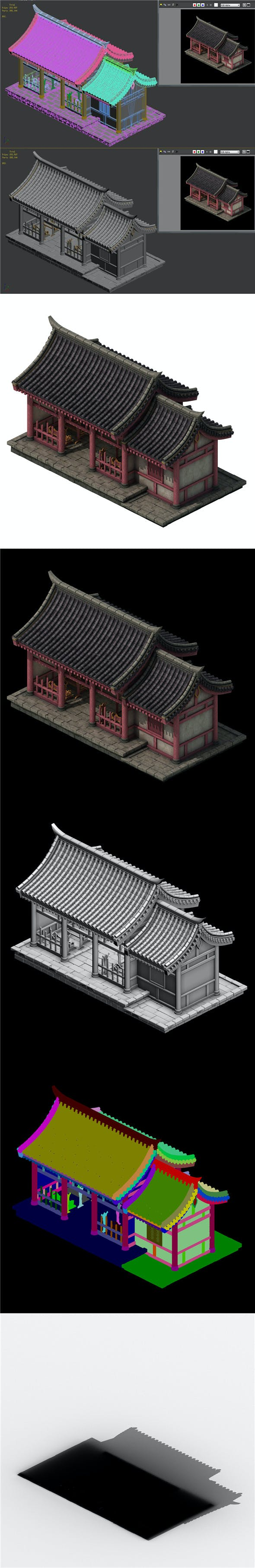 City Building - Courtroom 03 - 3DOcean Item for Sale