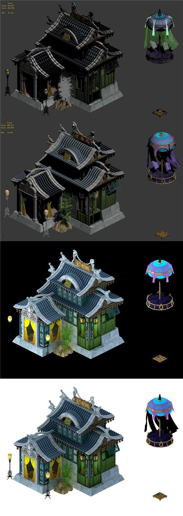 City Building - Recreation Room - 3DOcean Item for Sale