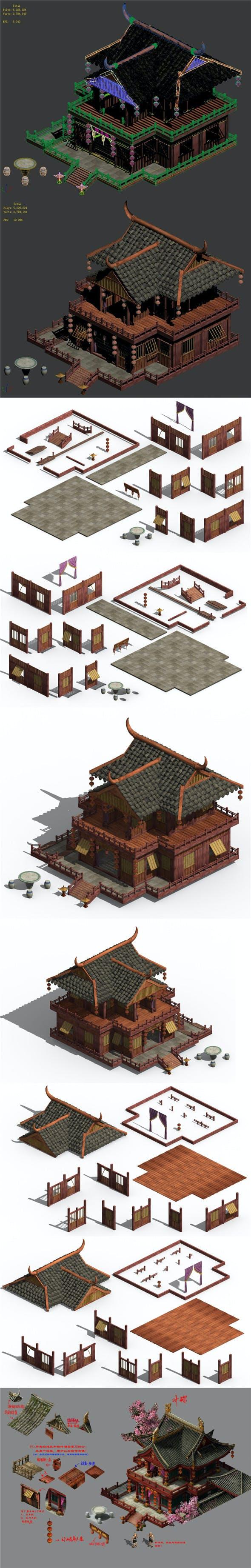 Romantic - brothel - month full floor - 3DOcean Item for Sale
