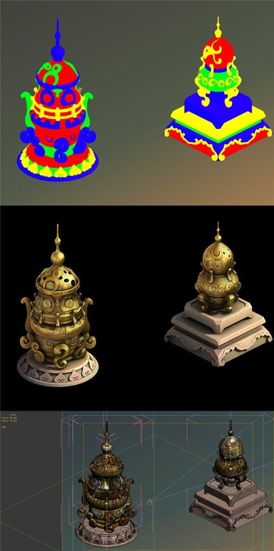 The incense burner of the observatory - 3DOcean Item for Sale