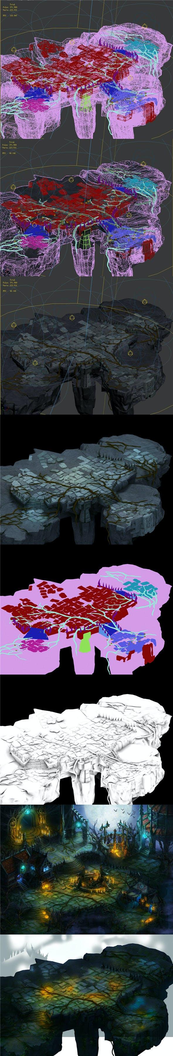 Dark Forest - Terrain 01 - 3DOcean Item for Sale