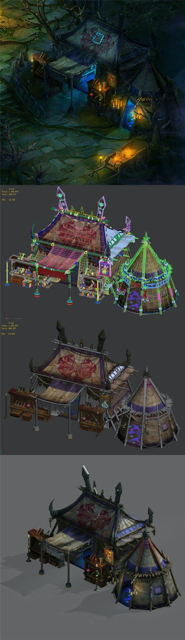 Dark forest - tent - 3DOcean Item for Sale