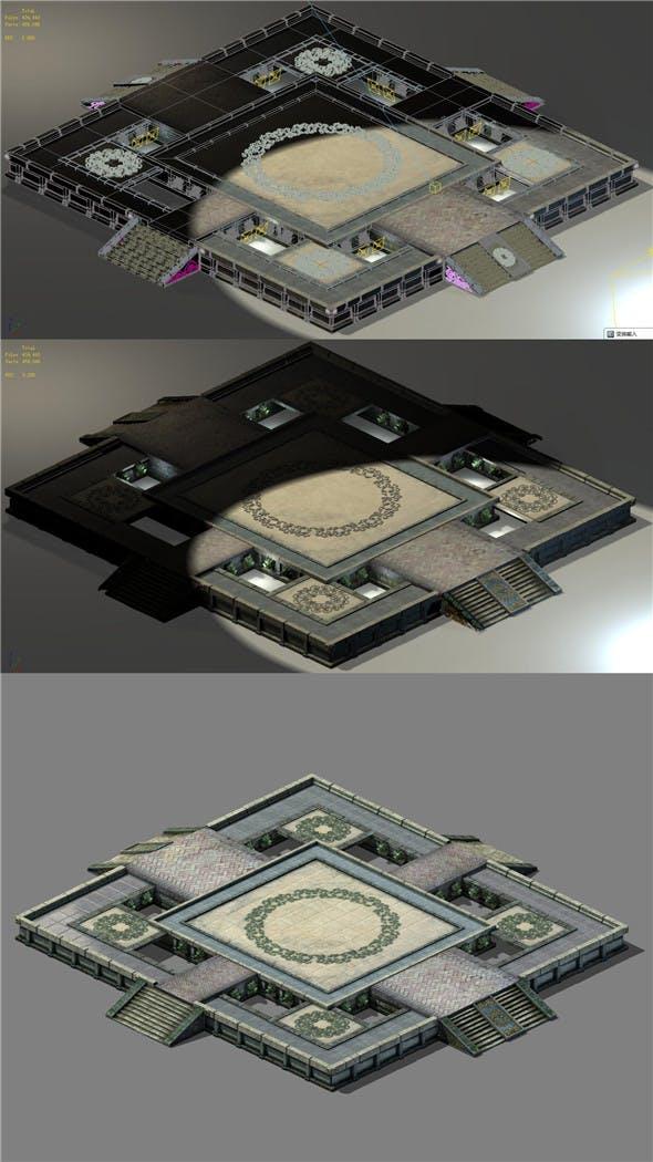 Beijing City Planning - City Center Decoration Platform - 3DOcean Item for Sale