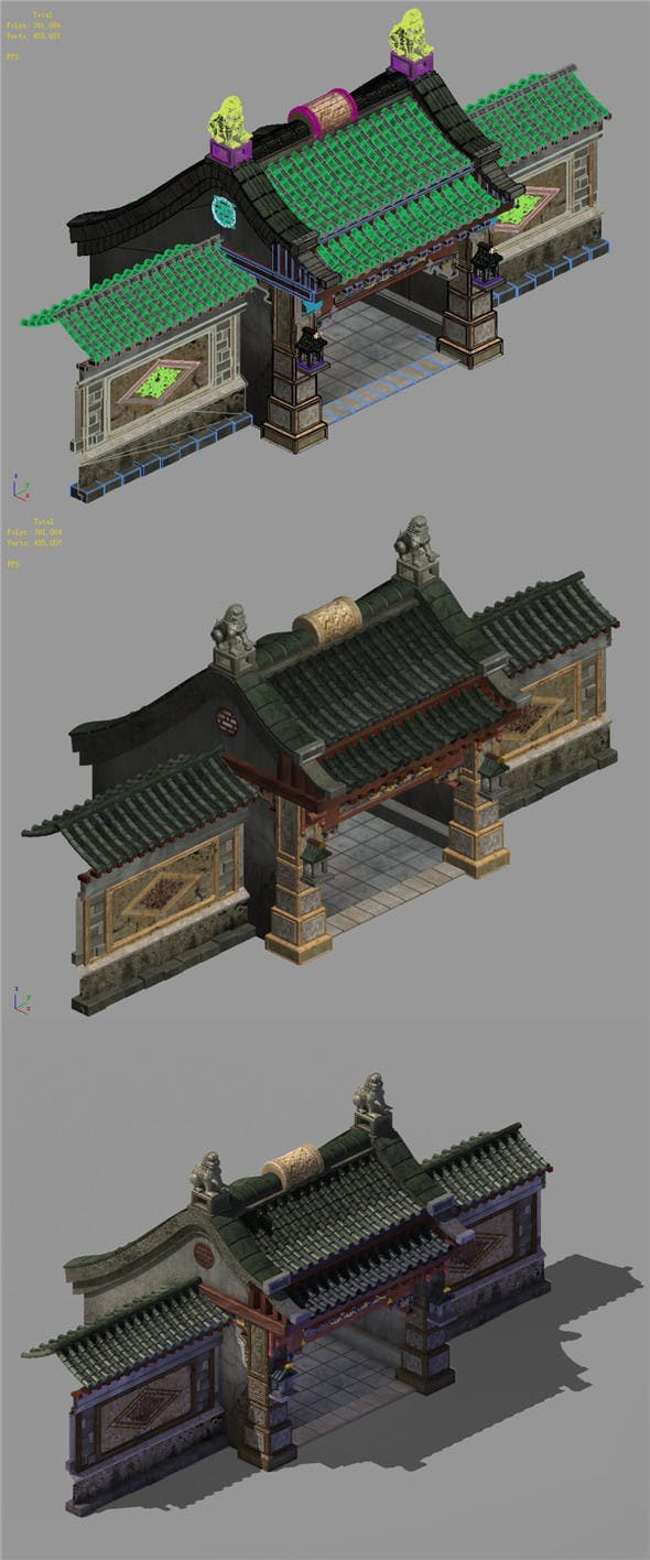 Capital city planning - House gate - 3DOcean Item for Sale