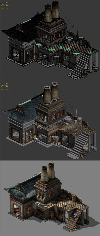 Capital city planning - blacksmith shop - 3DOcean Item for Sale