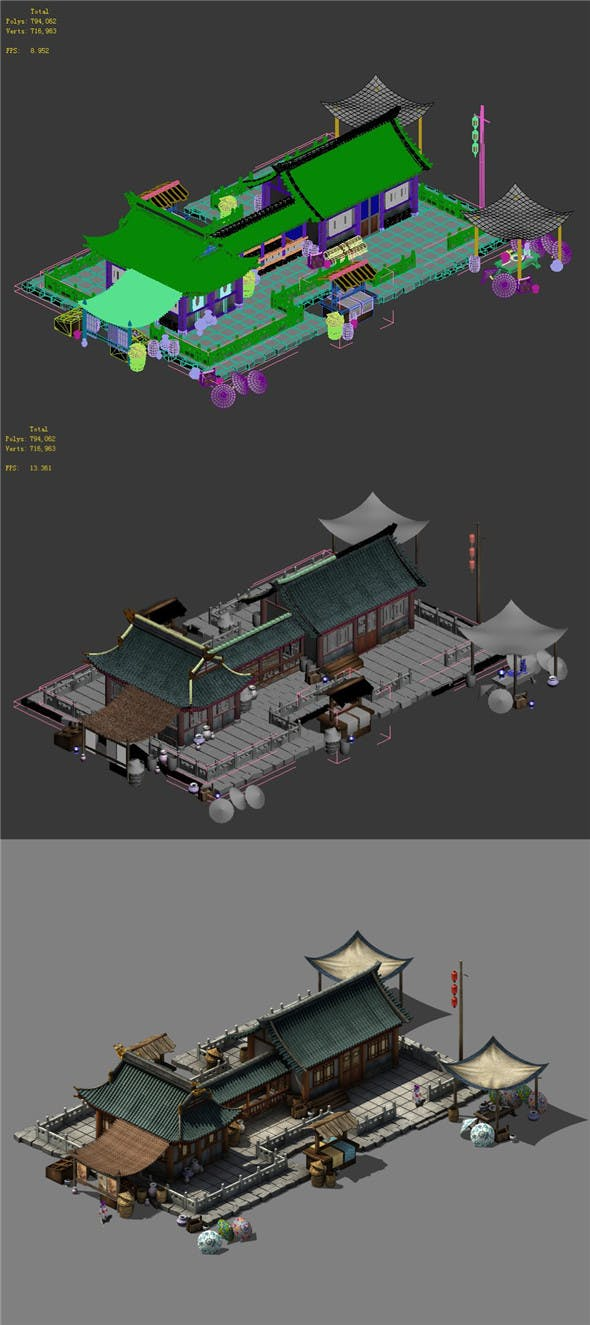 Beijing city planning - small shops - 3DOcean Item for Sale