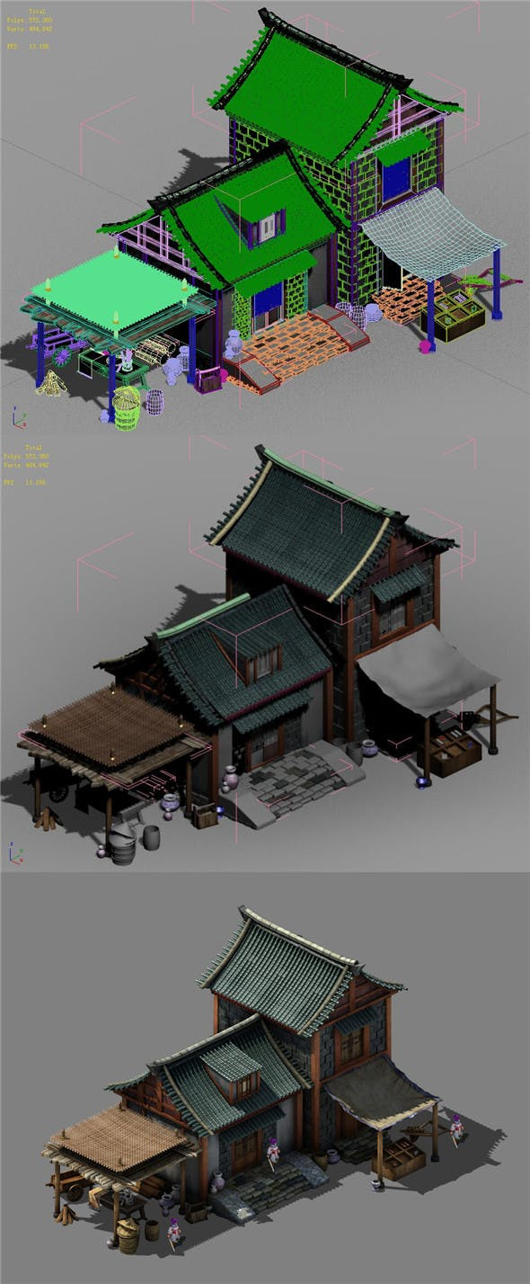 Capital city planning - small shops 02 - 3DOcean Item for Sale