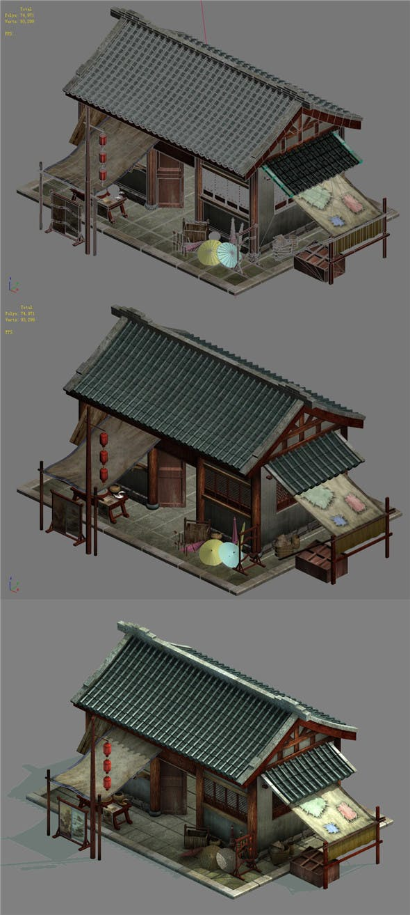 Capital city planning - small grocery store - 3DOcean Item for Sale