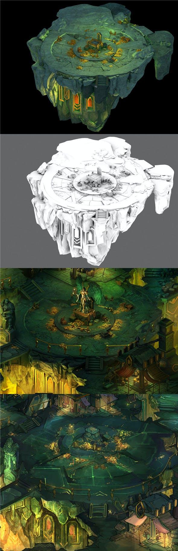 Dragon Lair - Terrain 01 - 3DOcean Item for Sale
