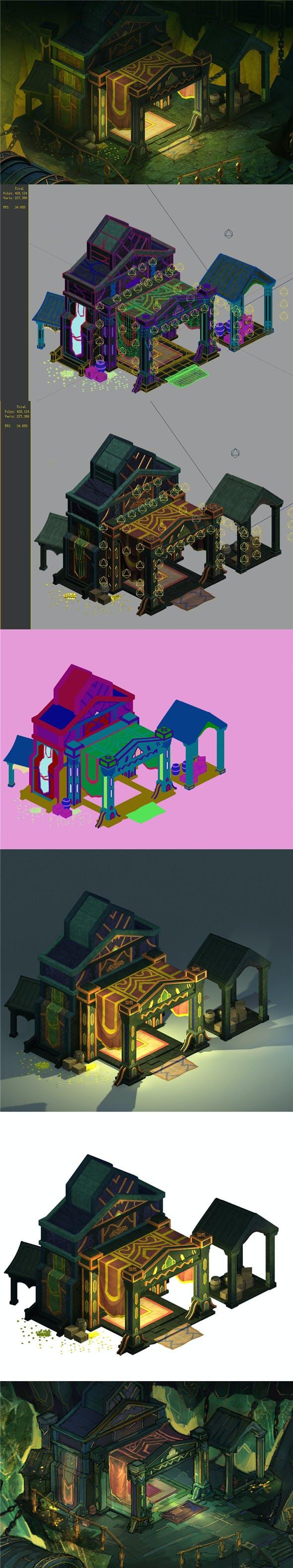 Dragon Lair - House 01 - 3DOcean Item for Sale