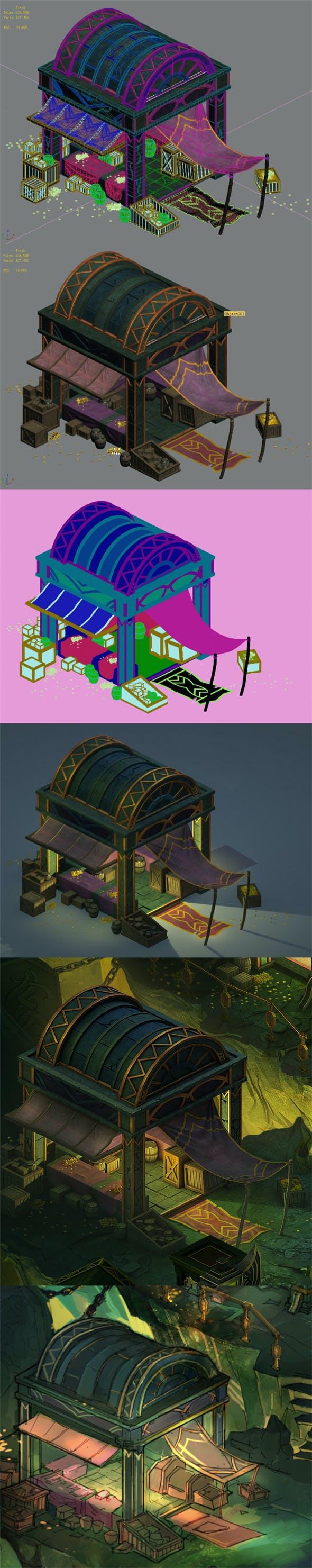 Dragon Lair - House 05 - 3DOcean Item for Sale