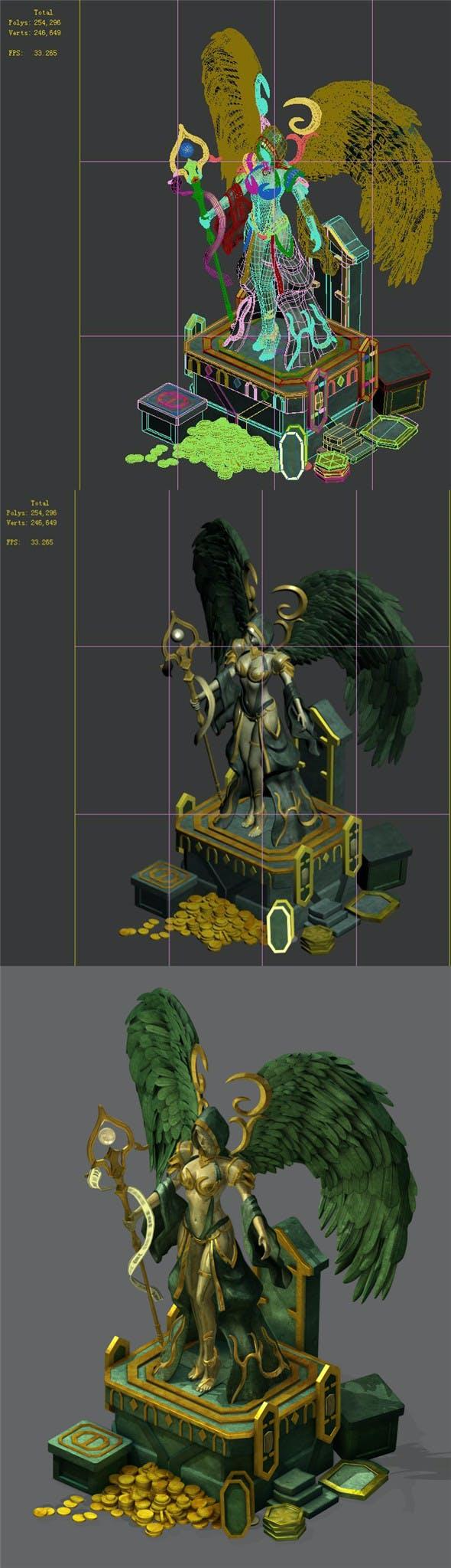 Dragon Lair - Statue of War Goddess - 3DOcean Item for Sale