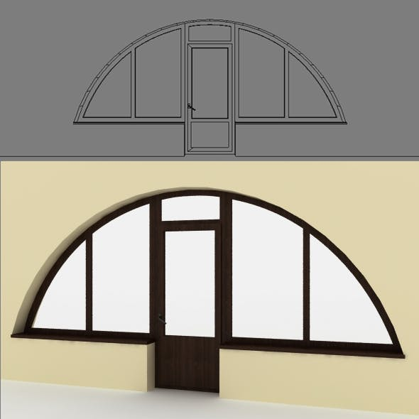 Arch window - 3DOcean Item for Sale