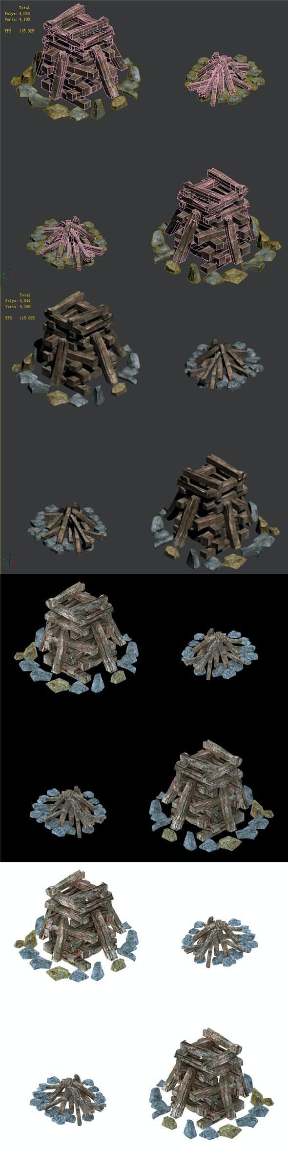 Barracks - Fire Camp - 3DOcean Item for Sale