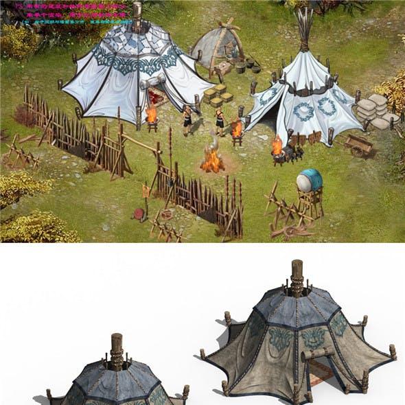 Barracks Buildings - Tents 043