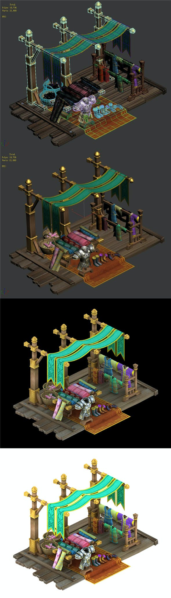 Kunlun village - clothing props shop - 3DOcean Item for Sale