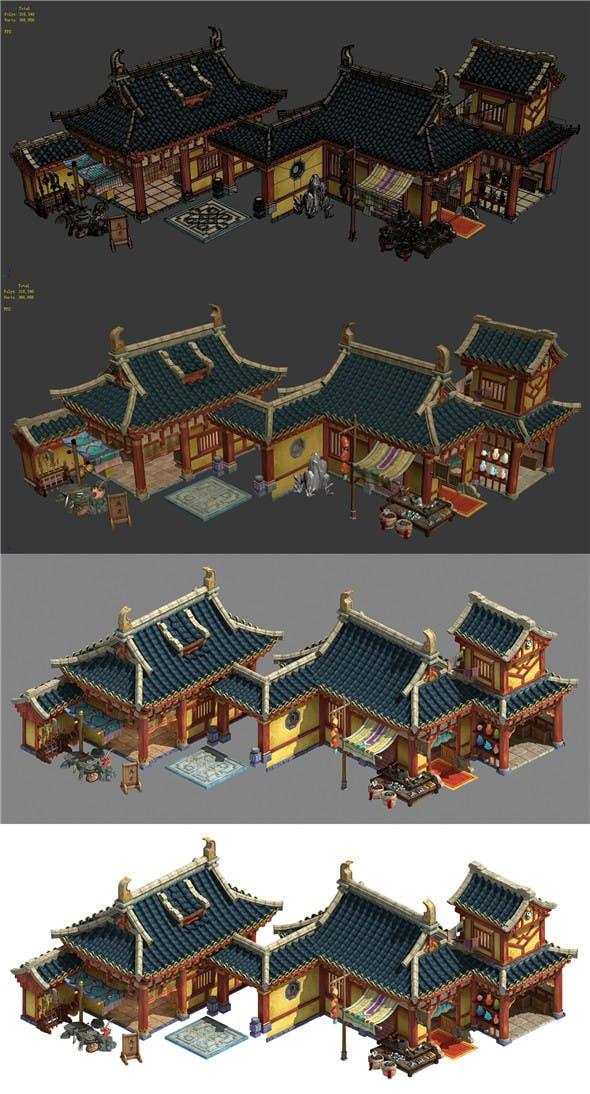 Kunlun Mountain Village - Weapon Shop - Forging Shop - 3DOcean Item for Sale