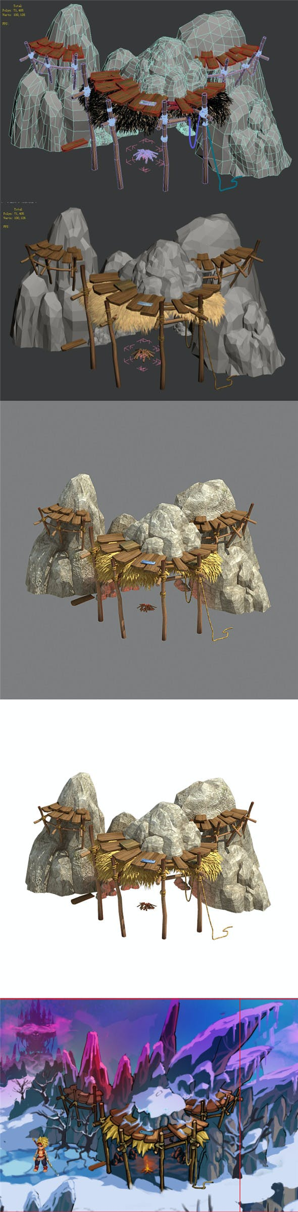 Kunlun Mountains - Mountain House 01 - 3DOcean Item for Sale