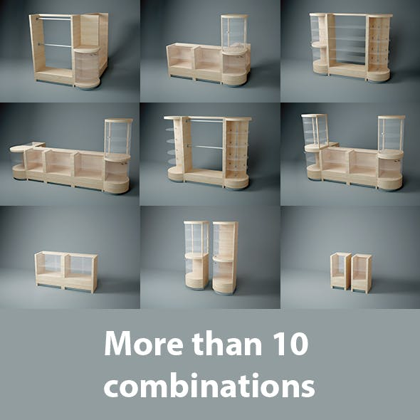 14 Modular Wooden furniture for shop