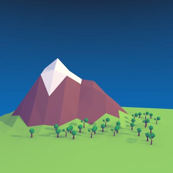 Low Poly Mountain Landscape - 3DOcean Item for Sale
