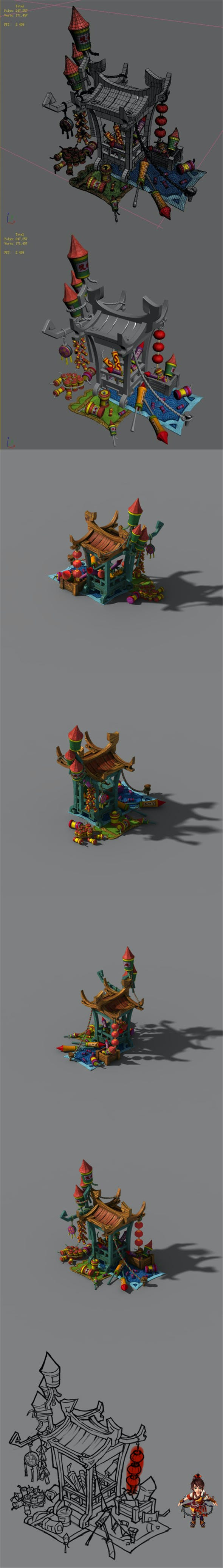 Lin an City Component - Fireworks - 3DOcean Item for Sale